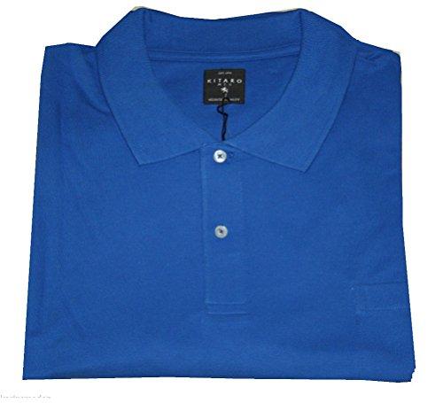 Royalblaues Poloshirt von Kitaro in Übergrößen 4xl