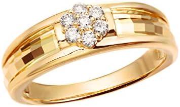K18イエローゴールドダイヤモンドリング RFR024 9号