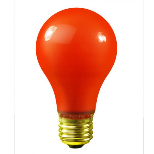 Bulbrite 106525 25W Ceramic Orange A19 Bulb (Orange Ceramic Bulb)