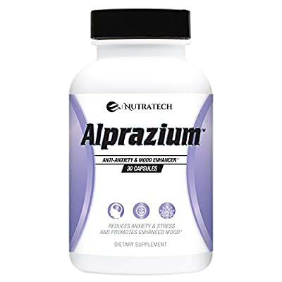 Alprazium - All Natural Stress Relief & Anti-Anxiety Supplement for Promoting Better Mood, Relaxation, Calming, Fast Acting Formula to Reduce Stress, Anxiety & Panic Attacks