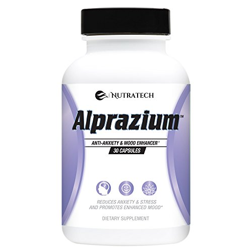 Alprazium - All Natural Stress Relief  Anti-Anxiety Supplement for Promoting Better Mood Relaxation Calming  fast Acting Formula to Reduce Stress Anxiety Panic Attacks (30 tablets) (Best Anti Anxiety Medication Over The Counter)