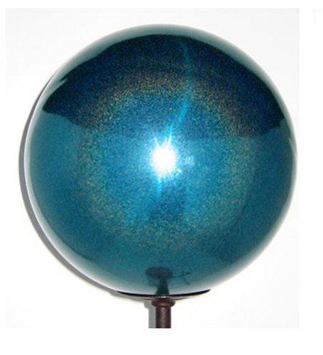 VCS TSD12 Mirror Ball 12-Inch Turquoise Stardust Stainless Steel Gazing Globe