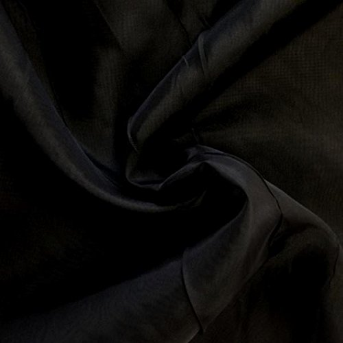 120' Wide Sheer Voile Chiffon Fire Retardant Resistant Drapery Fabric (Black VL-18)