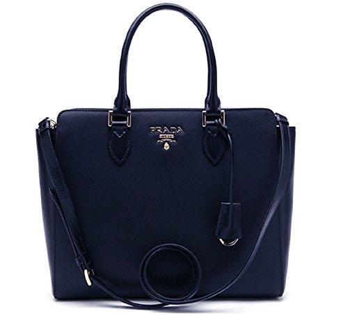 42c9f75fca9b Prada Bag Saffiano Navy Blue Leather