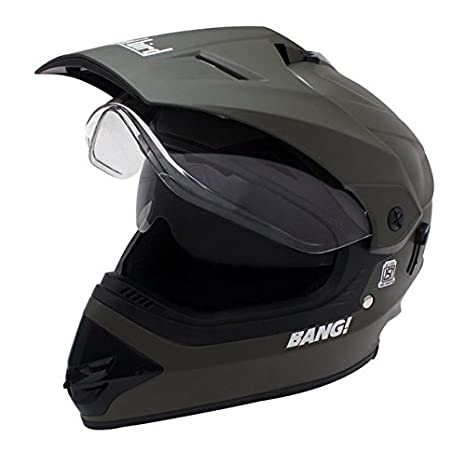 2e52c9a0 Steelbird Premium 195759-549 Motocross Helmet with Double Visor (Green, L):  Amazon.in: Car & Motorbike