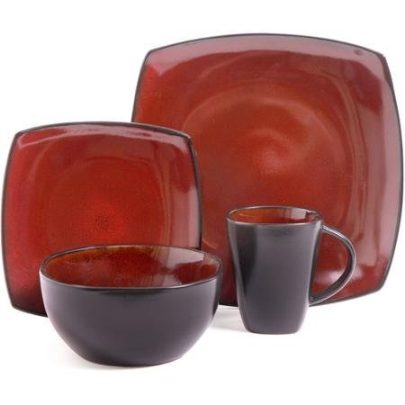 - Better Homes and Gardens 16-Piece Dinnerware Set, Tuscan Red