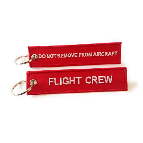Flight Crew / Do Not Remove From Aircraft | Luggage Tag | Red