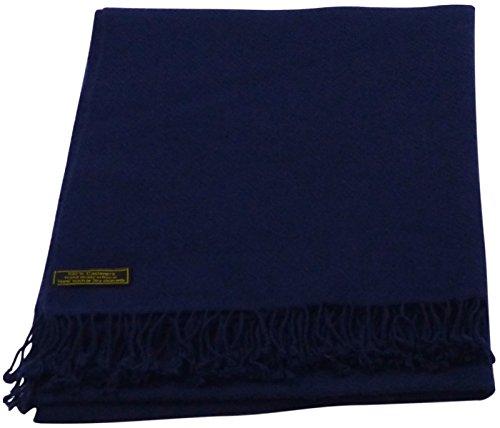 Indigo Blue High Grade 100% Cashmere Shawl Scarf Wrap Hand Made in Nepal NEW by CJ Apparel