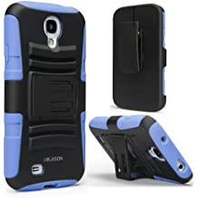 i-Blason Prime Series for Samsung Galaxy S4 Active i9295 Water Resistant Dual Layer Holster Case with Kickstand and Locking Belt Swivel Clip Rotates 180 Degrees (Blue)