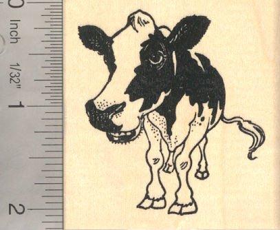 Holstein Cow Rubber Stamp, Holstein-Friesian cattle