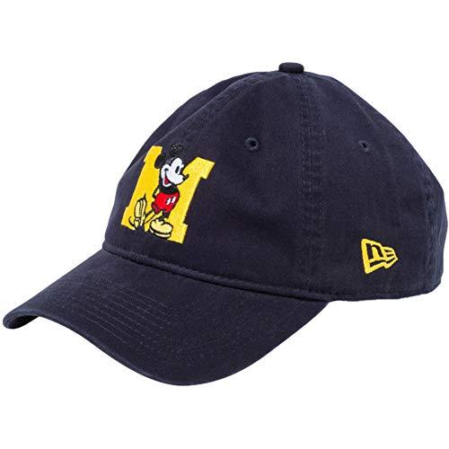 [ニューエラ]×ディズニー 930キャップ クローズストラップ ミッキーマウス イニシャル 11781581 ネイビー