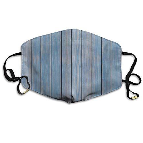 Girdsunp Classic Wild Textures Blue Painted Planks Resist Dirt Breathable Facial Mouth Mask for Unisex