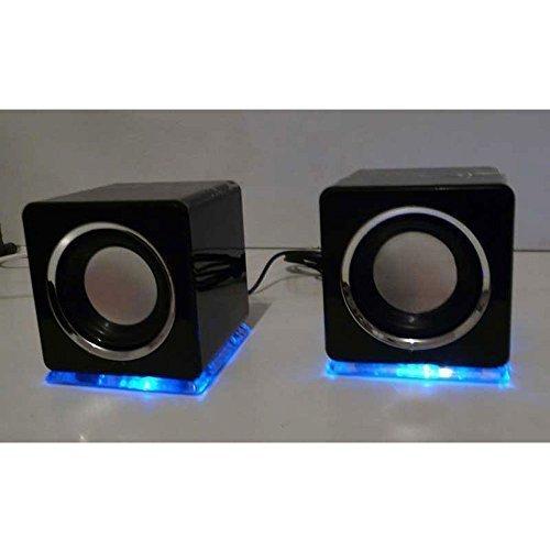Haut-parleurs cubes design USB Noir LinQ vk08