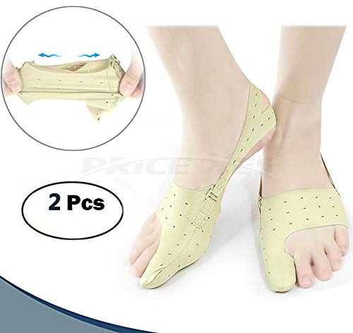 Bunion Corrector Relief Protector Sleeves, w/3 Hole Adjustable Slim Toe Straighteners Separators Corrector Brace 24h Day Night Splints Treat Pain Hallux Valgus Hammer Toe Joint Easy Wear in Shoes (M)