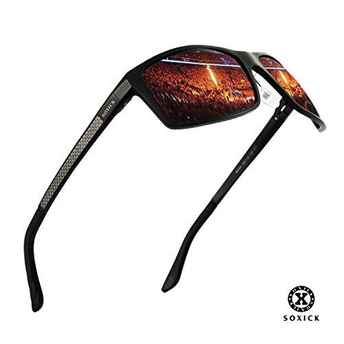 SOXICK Classic Polarized Driving Sunglasses for Men/Women Adjustable Metal Frame - For Oval Sunglasses Face Men