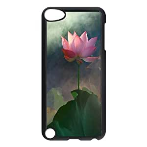 D-PAFD Customized Print Water Lily Pattern Hard Case for iPod Touch 5