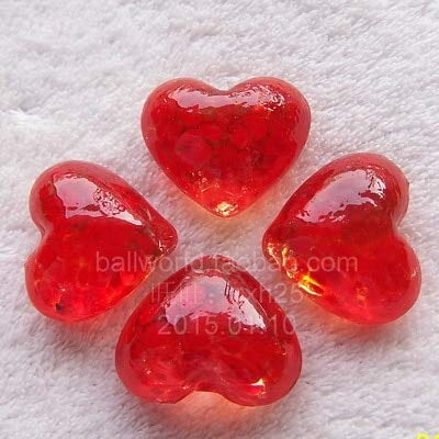 ZAMTAC 4pcs/lot 3cm Marbles Love Wonderful Heart Shape Marbles Bead Birthday Gifts