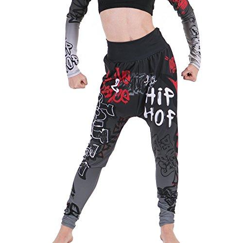 Gia Mia Girl's Hip Hop Dance Jogger Pant Medium (8-10) Grafitti by Gia Mia