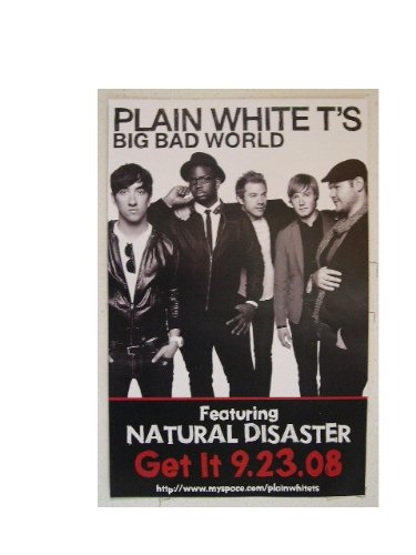Plain White T's Poster Big Bad World Tees Tee's