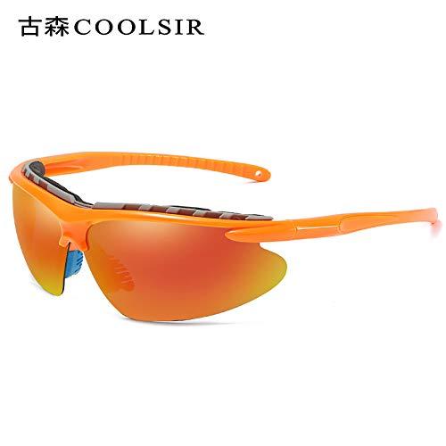 Half frame Lunettes Frame nbsp;Sport nbsp;Coloré Soleil Lunettes Sport Miroir Homme Polariseur Polarized d'alpinisme sunglasses Mjia Orange de De pour qCUO1Sw