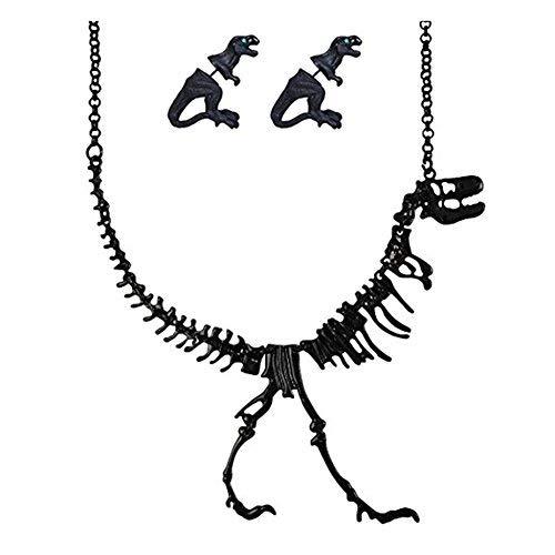 Tracy Women's Dinosaur Vintage Necklace Short Collar Choker Jewelry (Dinosaur Best Friend Necklaces)