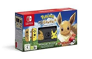 Nintendo Switch: Consola edición Pokémon + Let's Go Eevee (Preinstalado) + Poké Ball Plus (Edición limitada)