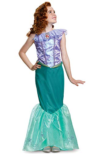 (Disguise Ariel Deluxe Child Costume, Teal,)