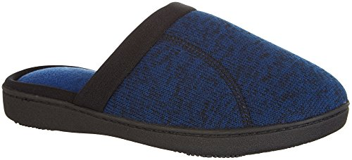 Isotoner Womens Dageraad Heather Klomp Pantoffels True Blauw / Zwart