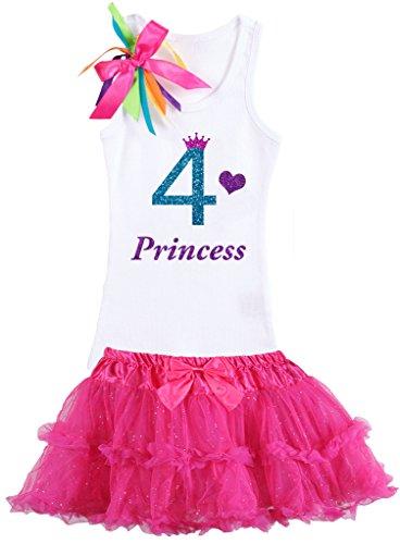 Bubblegum Divas Little Girls' Rainbow 4th Birthday Prince...