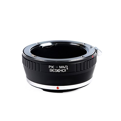 PK to Micro 4/3 Lens Adapter, Beschoi Lens Mount Adapter for Pentax PK K Mount Lens to Micro Four Thirds (MFT, M4/3) System Camera Body, Fits Olympus PEN and Panasonic ()