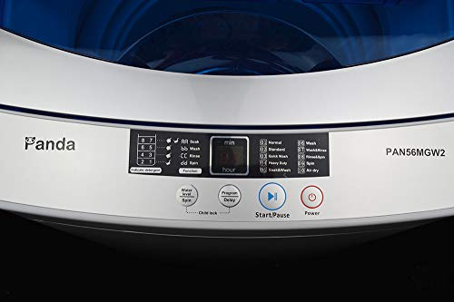 Panda Portable Compact Top Load Washer, 1.6cu.ft, PAN56MGW2, Wash, Rinse, Spin and Drain Fully Automatic Washing Machine 120V by Panda (Image #2)