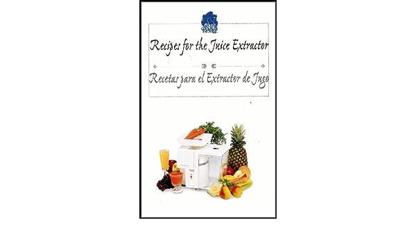 Recipes for the Fruit and Vegetable Juice Extractor/Recetas para las Frutas y Hortalizas Licuadoras [Bilingual English/Spanish]: Royal Prestige: Amazon.com: ...