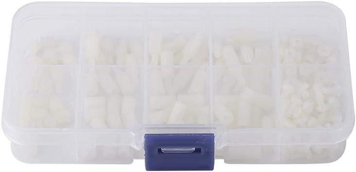 200pcs M2.5 Male Female Hex Motherboard Standoff Bolts Nuts Assortment Set w//Box