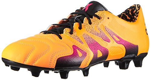 adidas Herren X 15.1 FG/AG Leather Fußballschuhe Orange (Solar Gold/Shock Pink/Core Black)