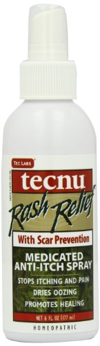 Tecnu Rash Relief Medicated Anti-itch Scar Prevention Spray Bottle, 6-Ounce