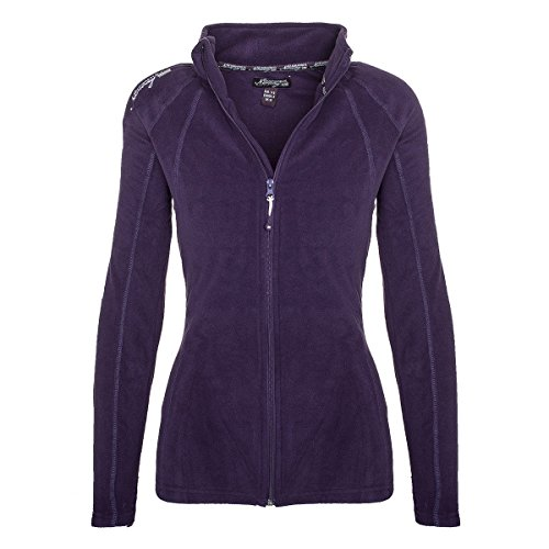 Geographical Norway Damen Fleece Jacke Übergangs Sweatjacke Pullover [GeNo-21-Lila-Gr.M]