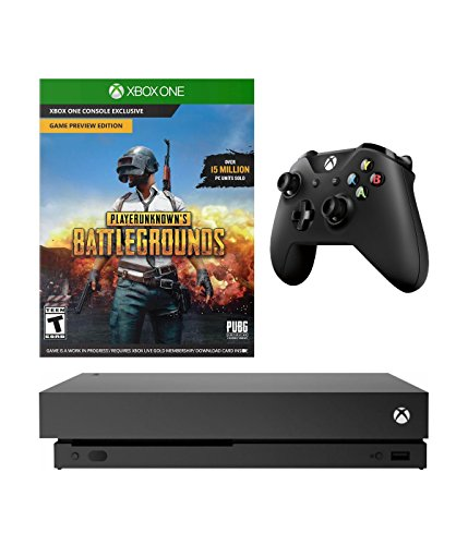 XBOX ONE X 4K Gaming PUBG Bundle: Microsoft XBOX ONE X 1TB CONSOLE and PlayerUnknown's Battlegrounds