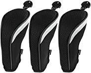 3 Pack Andux Golf Hybrid Club Head Covers Interchangeable No. Tag