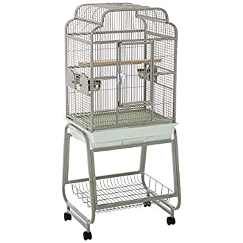 Image of Pet Supplies A&E Cage 782217 Platinum Open Victorian Top with Plastic Base Bird Cage, 22' x 17'