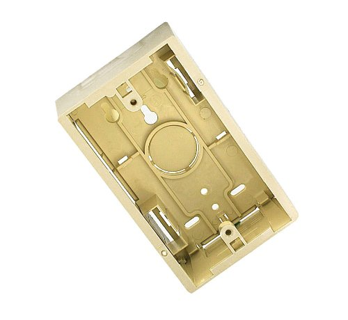 Leviton 42777-1IA Surface Mount Backbox, Single Gang, Ivory, 1.89