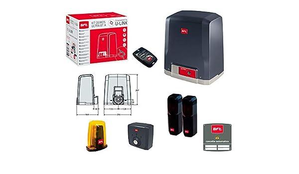 BFT Deimos Ultra BT A600 24 V 600 kg R925268 00002 Puerta corredera ML 010: Amazon.es: Bricolaje y herramientas