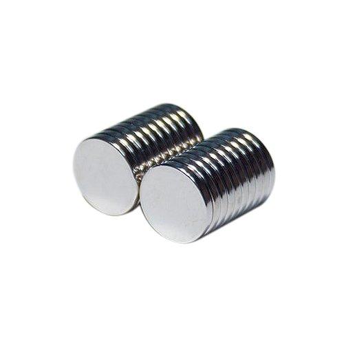 [해외]네오디뮴 자석 원형 직경 15mm 두께 2mm 20 개 세트 / Neodymium magnet Round diameter 15mm thickness 2mm 20 pieces