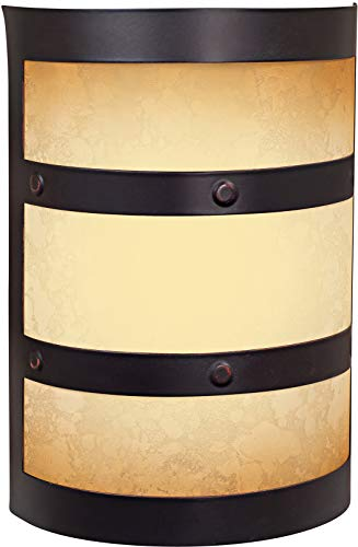 """Craftmade ICH1415-OBG Illuminated Chime System Half Cylinder Lighted LED Door Chime, Oiled Bronze Gilded (9.5""""H x 6.75""""W)"""