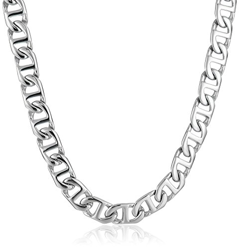 (Lavari - Stainless Steel Mariner Link Chain Necklace 24