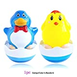 Popular Baby Kids Toys Cute Animals Bath Toy Tumbler Penguin or Chicken Daruma