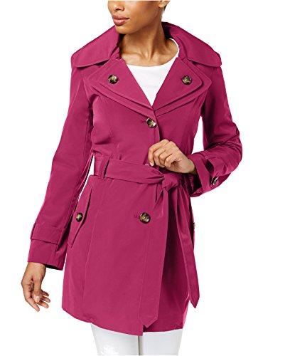(London Fog Womens Trench Coat, M, Purple)