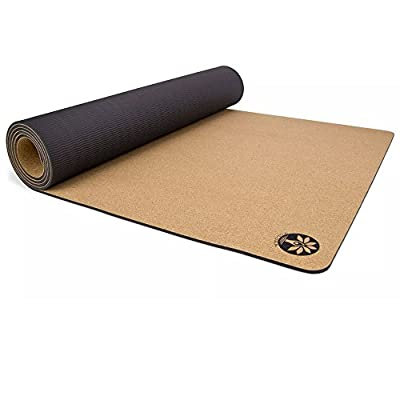 Yoloha Aura Cork Yoga Mat, Non Slip, Sustainable, Soft, Durable, Rubber, Highest Quality, Premium, Handmade, Moisture Resistant