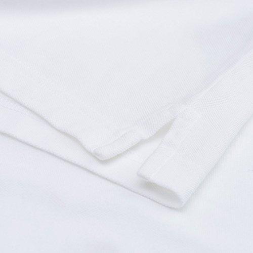 Solid Uomo Ls Felpa Gant White Rugger Da Pique YxAUwwndEq