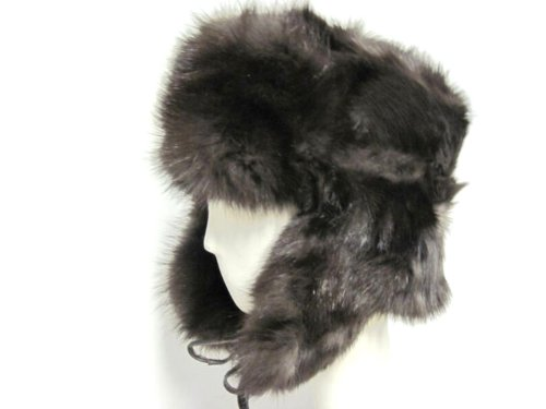 Stone Marten Trooper Hat in Russian Sable Color -Unisex XL by FursNewYork