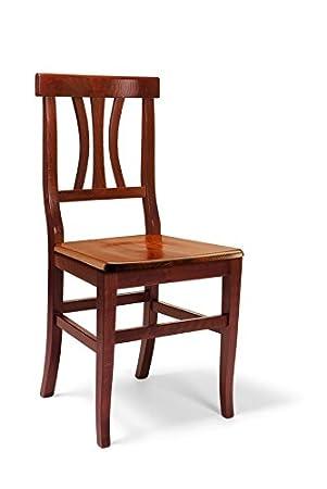 Lo Scrigno Arredamenti - 2 sillas clásicas de madera para cocina ...
